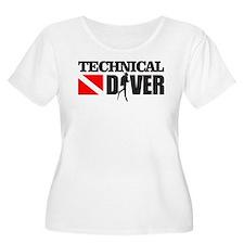 Technical Diver Plus Size T-Shirt