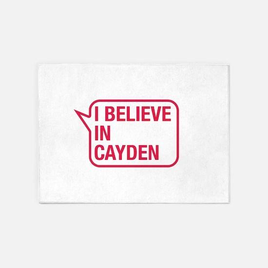 I Believe In Cayden 5'x7'Area Rug