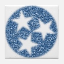 Faded Tennessee Flag Tile Coaster
