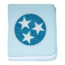 Faded Tennessee Flag baby blanket