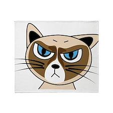 Grumpy Cat Throw Blanket
