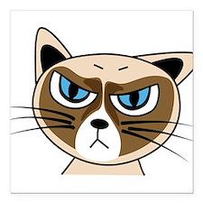 "Grumpy Cat Square Car Magnet 3"" x 3"""