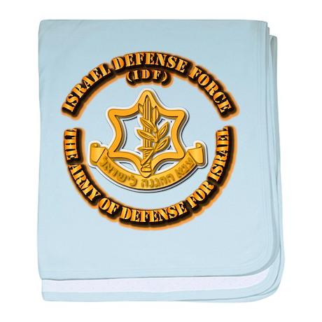 Israel Defense Force - IDF baby blanket