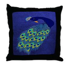 Preening Peacock Throw Pillow