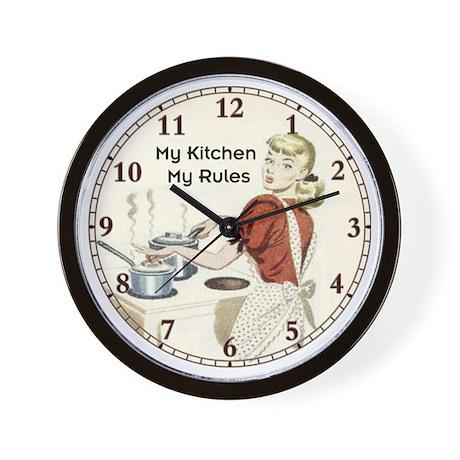 my-kitchen Wall Clock by SammysMomsCustomDesign