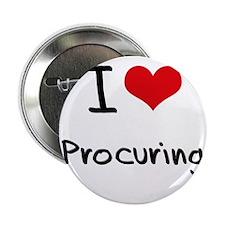 "I Love Procuring 2.25"" Button"