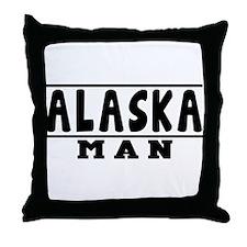 Alaska State Designs Throw Pillow