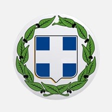 Greek Coat of Arms Ornament (Round)