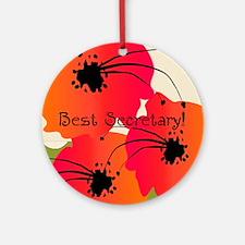 Best Secretary Ornament (Round)