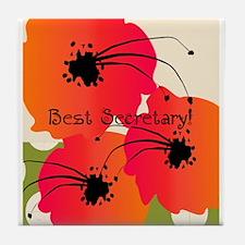 Best Secretary Tile Coaster