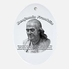 Benjamin Franklin 04 Oval Ornament