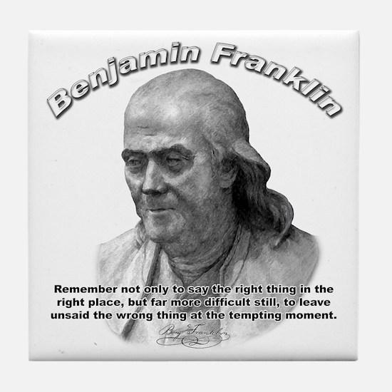 Benjamin Franklin 04 Tile Coaster