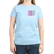 color guard own it Women's Pink T-Shirt