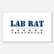 Lab Rat - Dharma Initiative Rectangle Decal