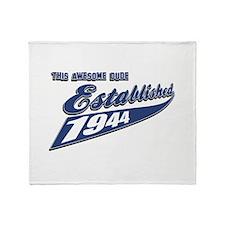 Established in 1944 birthday designs Throw Blanket