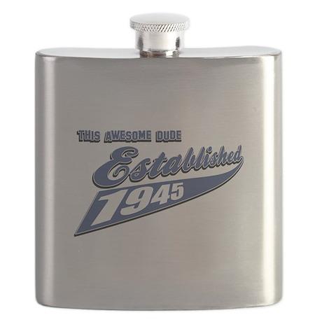 Established in 1945 birthday designs Flask