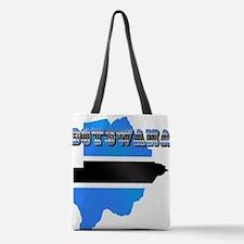Botswana Flag Map Polyester Tote Bag