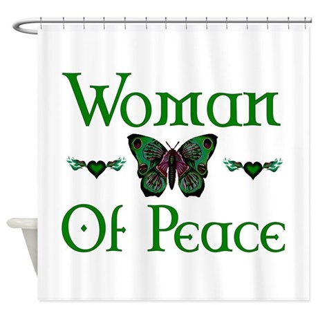 Woman Of Peace Shower Curtain