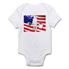 USA POWERLIFTING Infant Bodysuit