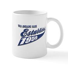Established in 1959 birthday designs Mug