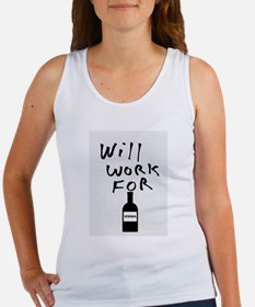 Will Work For Vodka Tank Top