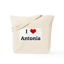 I Love Antonia Tote Bag