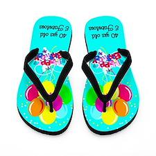 UNIQUE 40TH Flip Flops
