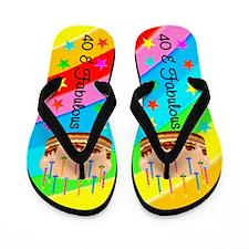 COLORFUL 40TH Flip Flops