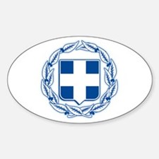 Greece Coat of Arms Oval Decal