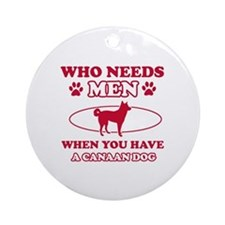 Funny Canaan Dog mommy designs Ornament (Round)