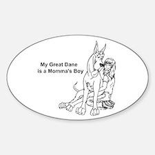 CS Momma's Boy Oval Decal