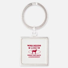 Funny Dalmatian mommy designs Square Keychain