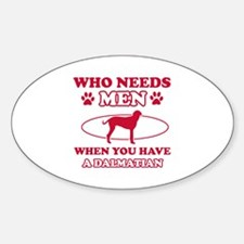 Funny Dalmatian mommy designs Sticker (Oval)