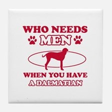 Funny Dalmatian mommy designs Tile Coaster