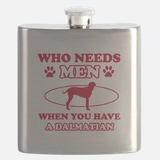 Funny Dalmatian mommy designs Flask
