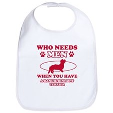 Funny Dandie Dinmont Terrier mommy designs Bib