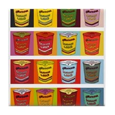 Colored Maruchan Cups of Noodles Tile Coaster