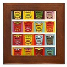 Colored Maruchan Cups of Noodles Framed Tile