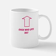 Chick who lifts big Small Mug