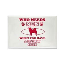 Funny Finnish Spitz mommy designs Rectangle Magnet