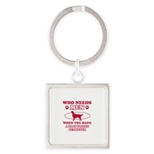 Funny Flat-Coated Retriever mommy designs Square K