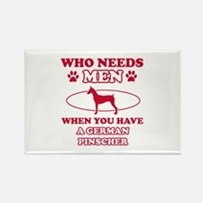 Funny German Pinscher mommy designs Rectangle Magn