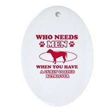 Funny Curly-Coated Retriever mommy designs Ornamen