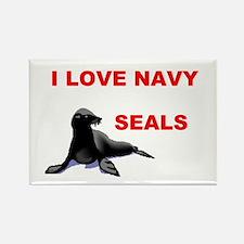 LOVE NAVY SEALS Rectangle Magnet