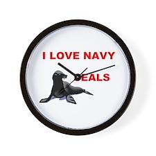 LOVE NAVY SEALS Wall Clock