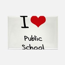 I Love Public School Rectangle Magnet