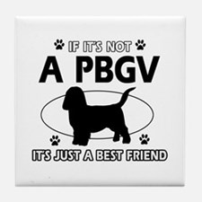 PBGV designs Tile Coaster
