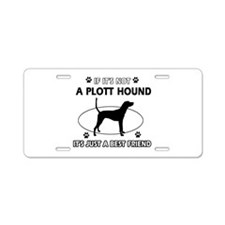 Plott Hound designs Aluminum License Plate