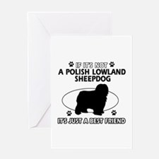 Polish Lowland Sheepdog designs Greeting Card