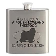 Polish Lowland Sheepdog designs Flask